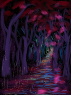 Night Forest Path